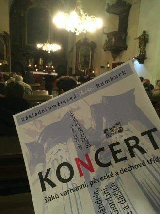 Koncert ZUŠ Rumburk v kostele sv. Vavřince