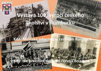 Výstava 100. výročí českého školství v Rumburku